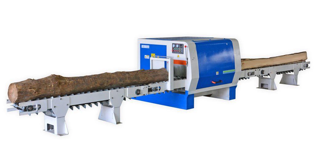 多片锯推台锯木工机械